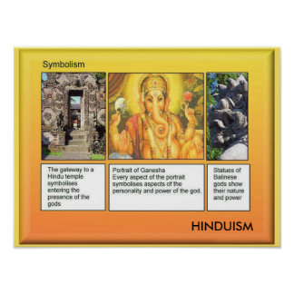 Religion, Hinduism, Symbolism Poster