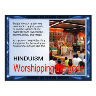 Religion, Hinduism, Worshipping the gods Postcard
