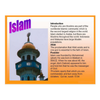 Religion, Introducing Islam Postcard