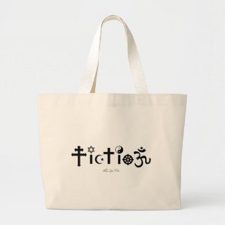 Religion is Fiction Large Tote Bag