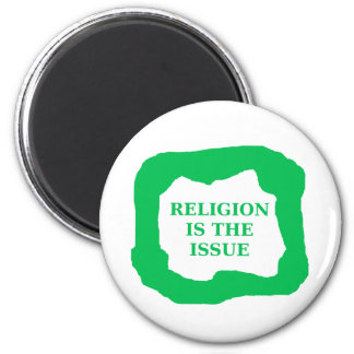 Religion is the issue, green .png magnet