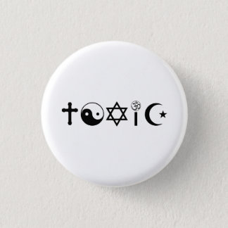 Religion Is Toxic Freethinker 3 Cm Round Badge