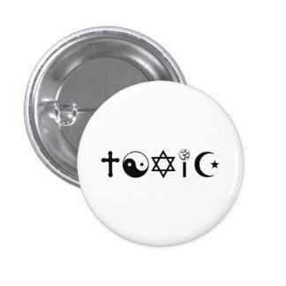 Religion Is Toxic Freethinker 3 Cm Round Badge