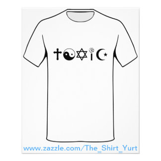 Religion Is Toxic Freethinker Personalized Flyer