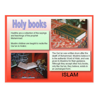 Religion, Islam, Holy Books Postcard