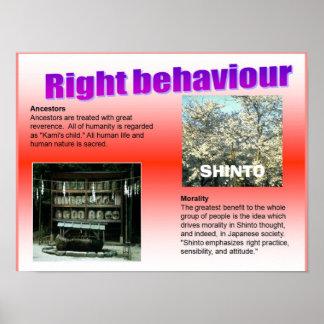 Religion, Japan, Right Behaviour Poster