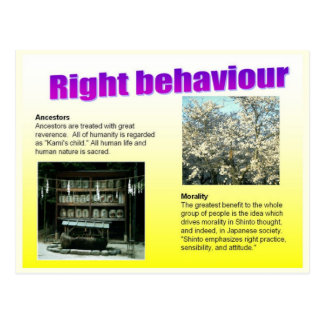 Religion, Japan, Shinto Right behaviour Postcard