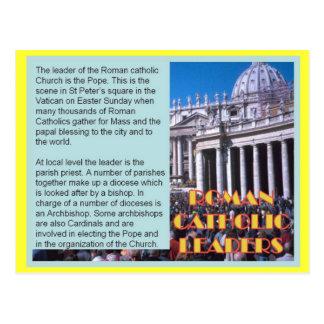 Religion, Roman Catholic  leaders Postcard