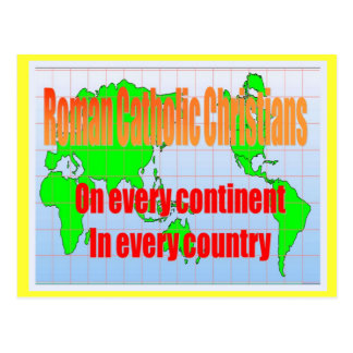 Religion, Roman Catholics in every country Postcard