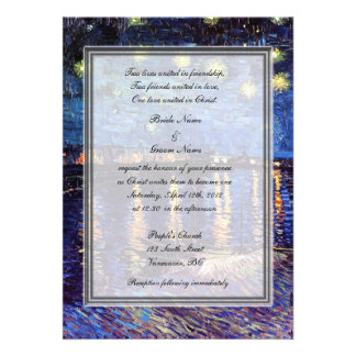 religion s wedding van Gogh starry night Personalized Announcement