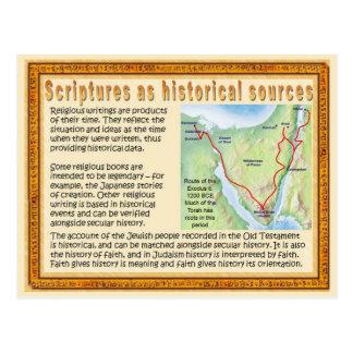 Religion, Scriptures as historical sources Postcard