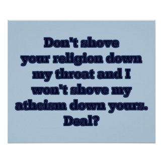 Religion VS Atheism part 2 Posters