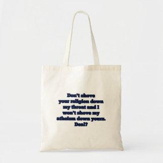Religion VS. Atheism, part 2 Budget Tote Bag