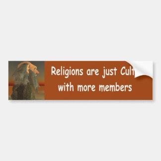 religions are just cults bumper sticker
