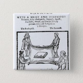 Religions Enemies, 1641 15 Cm Square Badge