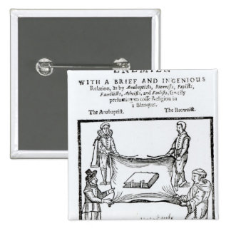 Religions Enemies, 1641 Pinback Button