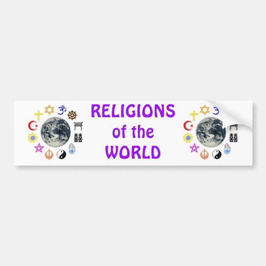 RELIGIONS of the WORLD Bumper Sticker