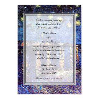 religion's wedding, van Gogh starry night 13 Cm X 18 Cm Invitation Card