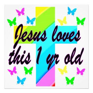 RELIGIOUS 1 YEAR OLD BIRTHDAY DESIGN PHOTO ART