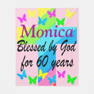 RELIGIOUS 60TH BIRTHDAY PERSONALIZED BLANKET