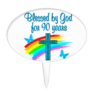 RELIGIOUS 90 YR OLD CAKE PICK