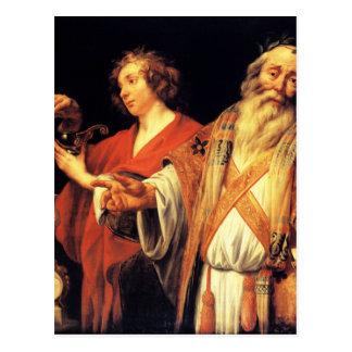 Religious allegory by Jacob Jordaens Postcard