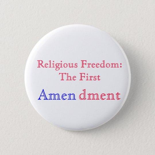 Religious Amen 6 Cm Round Badge
