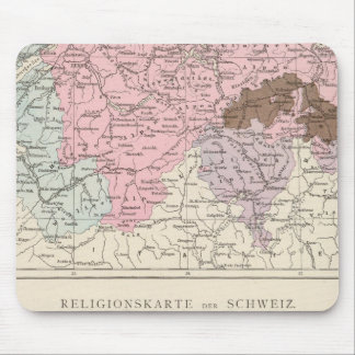 Religious and Linguistic Map of Switzerland Mouse Mat