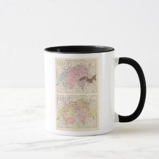 Religious and Linguistic Map of Switzerland Mug
