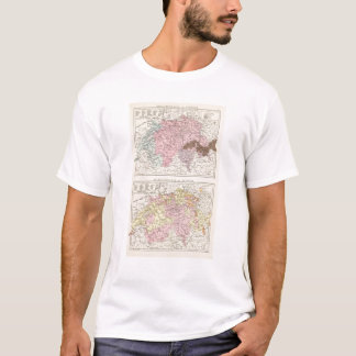 Religious and Linguistic Map of Switzerland T-Shirt
