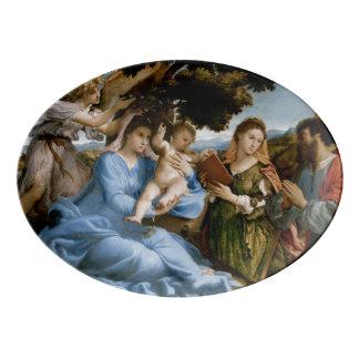 Religious Art porcelain platter