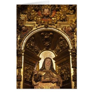 Religious art representing Santa Teresa 2 Card