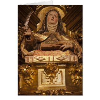 Religious art representing Santa Teresa Card
