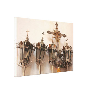 Religious artifacts canvas print
