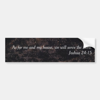 "Religious ""As for me and my house"" Black Charcoal Bumper Sticker"