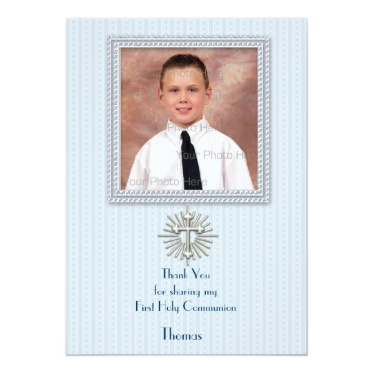 Religious Blue Stripes Card