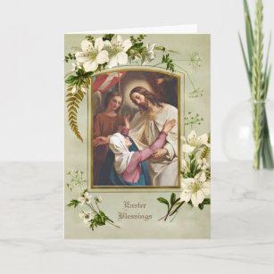 Religious Catholic Easter Jesus Resurrection Mary Holiday Card