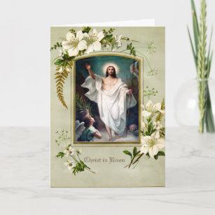 Religious Catholic Easter Resurrection Vintage Holiday Card