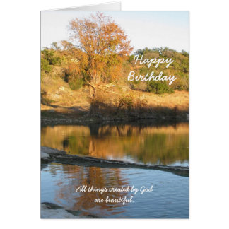 Religious Christian Birthday Greeting Card - River