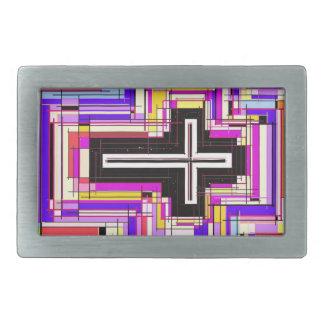 religious christian cross rectangular belt buckles
