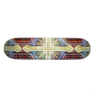 Religious christian cross symbol skateboard decks
