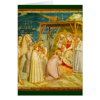 Religious Christmas Manger Scene Card