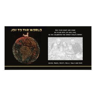 Religious Christmas Photo Card -- Joy to the World