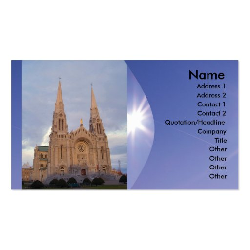 Religious Church Business Card