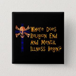 Religious Crazies 15 Cm Square Badge