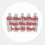 Religious Crazies Round Stickers