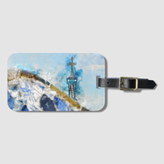 Religious Cross in Barcelona Spain Luggage Tag