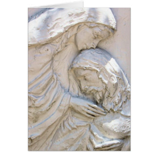 Religious Easter Card Christ and Mary