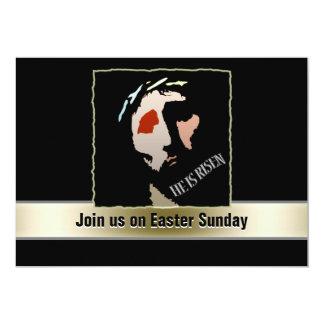 Religious Easter Jesus Bible Verse Quote Risen 13 Cm X 18 Cm Invitation Card