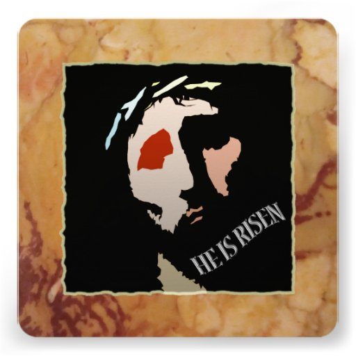 Religious Easter Jesus Bible Verse Quote Risen Personalized Invitation